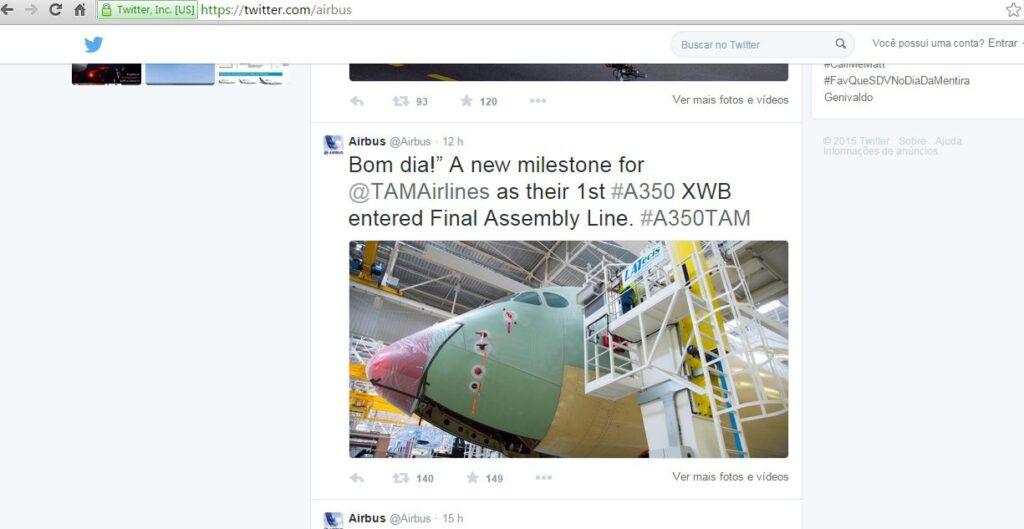 Airbus a350 tam