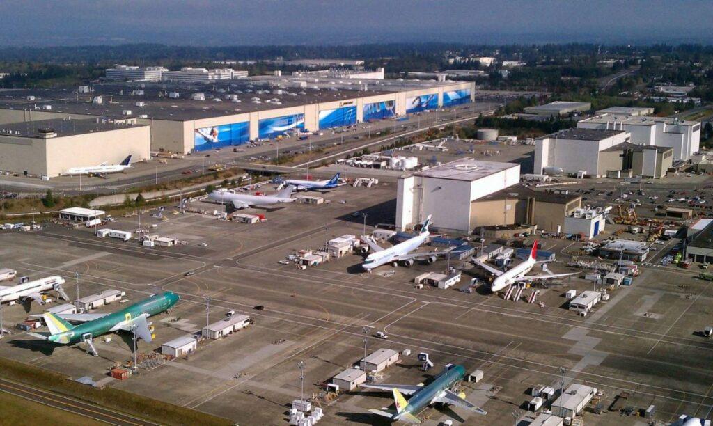 Fabrica da Boeing em Everett.