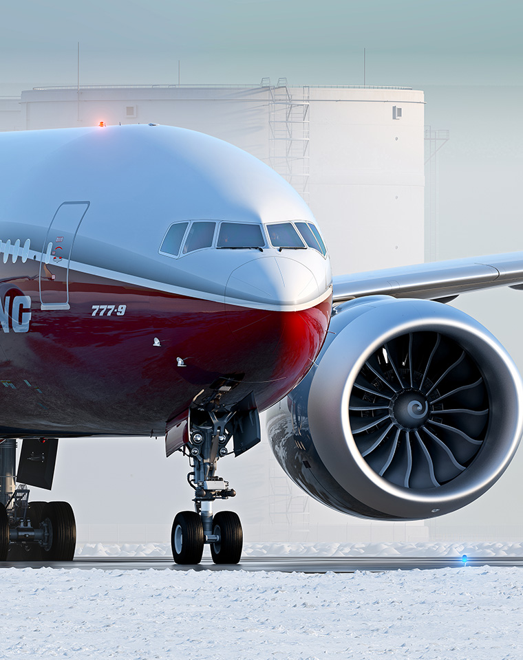 Nova turbina GE9X fica gigante no novo 777X.