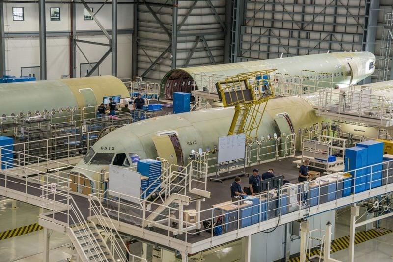 Montagem de Aeronaves A320 no Alabama - EUA