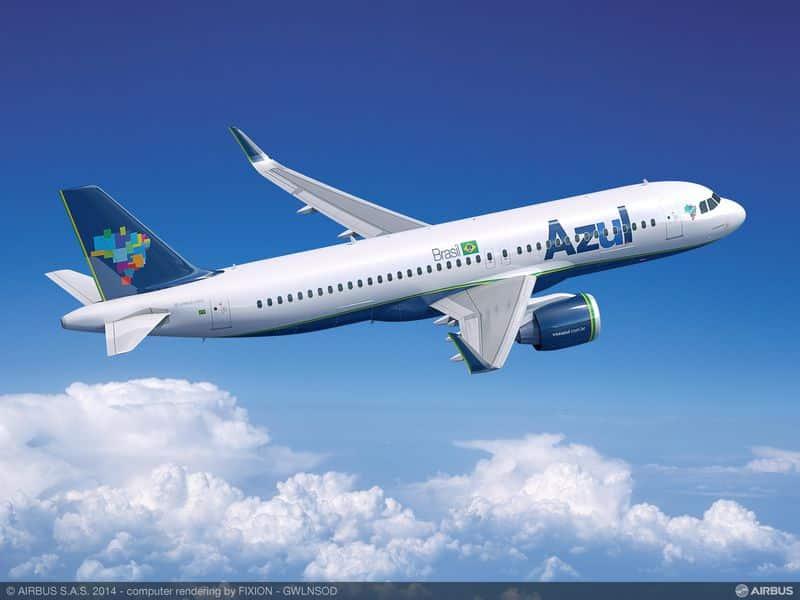 Projeção do A320neo da Airbus.