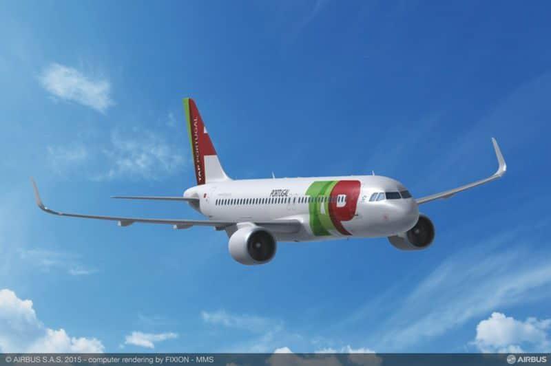 Airbus A320neo em TAP Colors.
