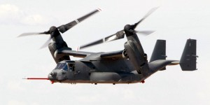EDWARDS AIR FORCE BASE, Calif. -- Osprey 9 flies a test mission. The ship returned to flight July 14 after nearly two years of modifications. The aircraft has updated electrical, hydraulic, electronic warfare and heat-seeking missile countermeasures. (U.S. Air Force photo by James Haseltine)