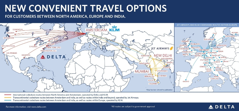 Delta Air Lines KLM Travel options