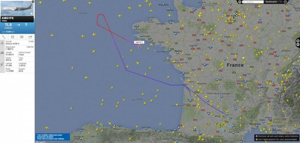 A350XWB em voo...