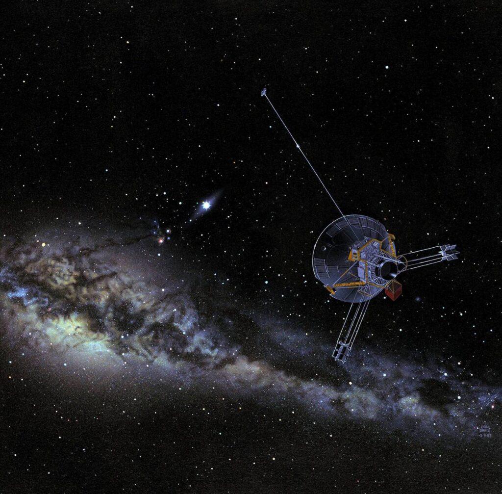 Sonda Pionner da NASA em perspectiva artística.