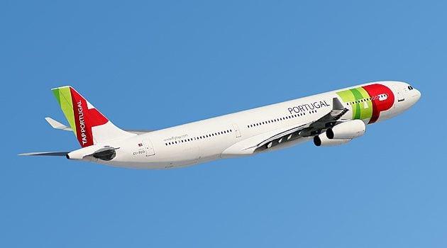 Airbus A340 da TAP, mesmo modelo que voa para o Brasil.
