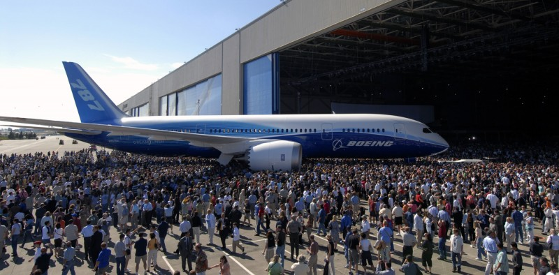 Rollout do 787 Dreamliner em 8, Jul. 2007 - Everett WA