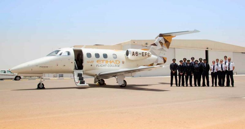 Phenom 100E Etihad Flight College