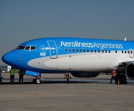 Boeing 737-800 é a nova escolha da Aerolíneas Argentina. Foto - Divulgação/AA