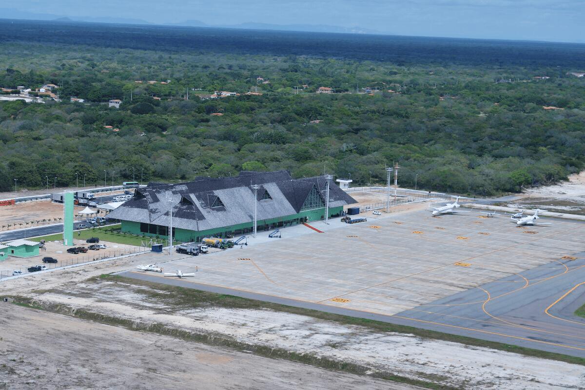 Aeroporto Jericoacoara : Gol inaugura aeroporto de jericoacoara com voo fretado