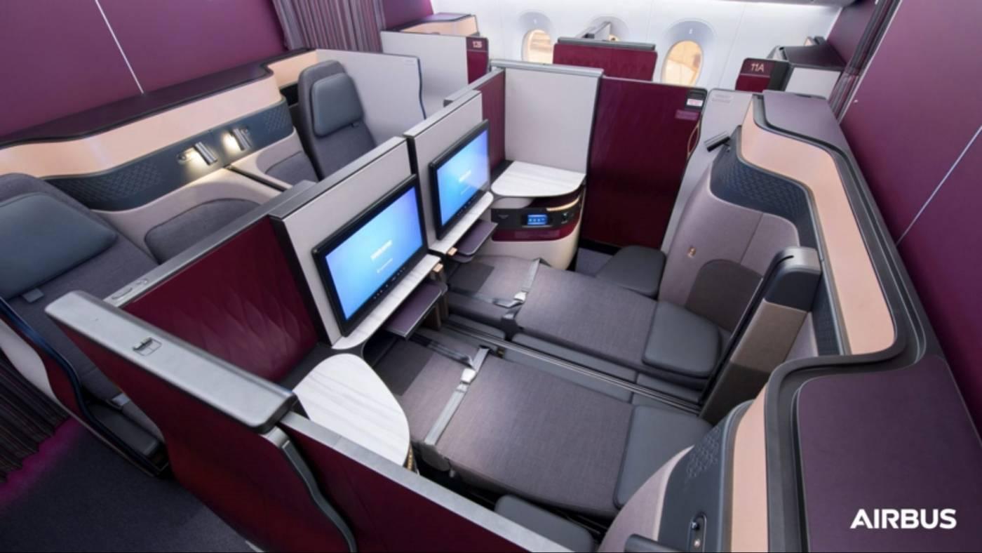 Qatar Airways recebeu primeiro Airbus A350