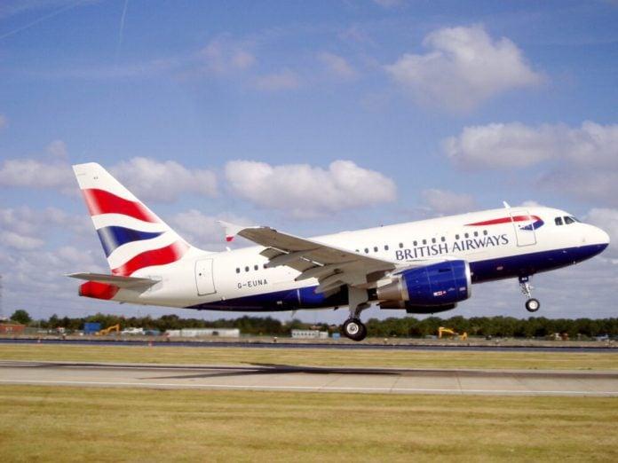 British Airways A318 BabyBus