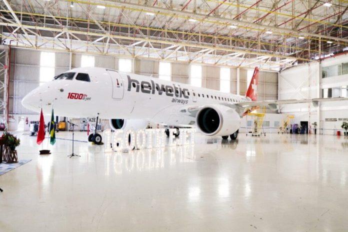 Helvetic Embraer 190-E2 Suíça