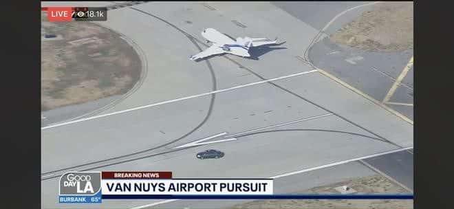 Perseguição de carro no Aeroporto