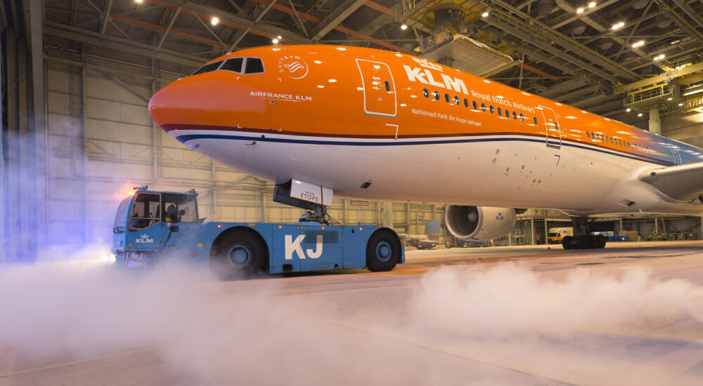 KLM Boeing 777 Orange Pride