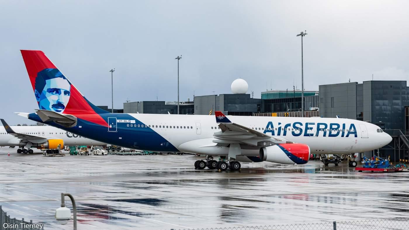Airbus A330 Air Serbia Nikola Tesla