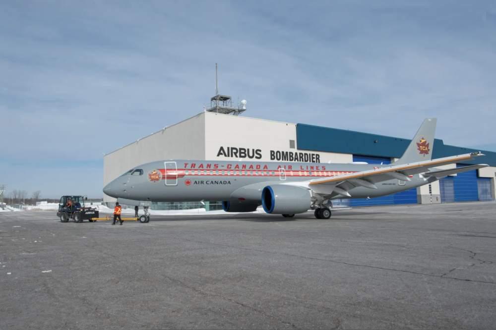 Air Canada Airbus A220 Trans-Canada
