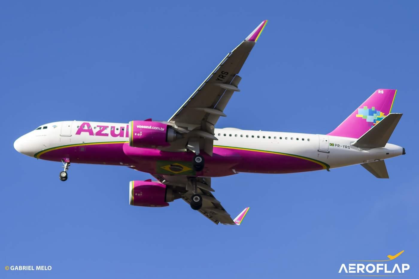 Azul Linhas Aéreas Airbus A320neo PR-YRS Rosa