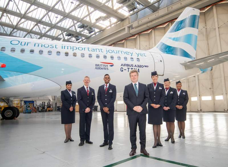 British Airways Pintura Combustível
